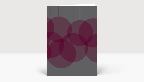 Weihnachtskarte Verschmelzende Weihnachtskugeln grau