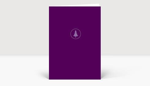 weihnachtskarte weihnachtsbaum klein aber fein dunkellila. Black Bedroom Furniture Sets. Home Design Ideas