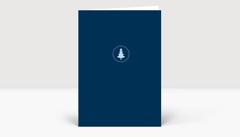Weihnachtskarte Weihnachtsbaum klein aber fein blau