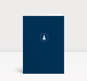 Weihnachtskarte Klein aber fein blau