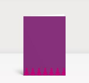 Weihnachtskarte Weihnachtsbaumkette pink