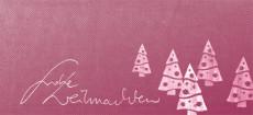 Weihnachtskarte Weihnachtsbäume auf Karton