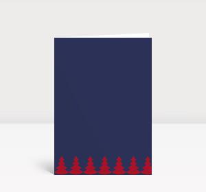 Weihnachtskarte Weihnachtsbaumkette rot blau