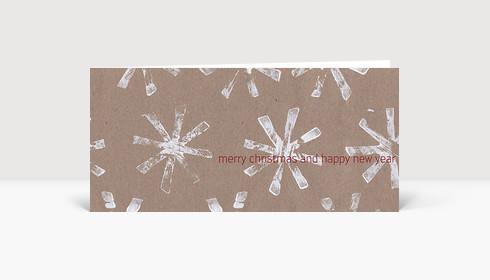 Weihnachtskarte Weiße Weihnachtssterne auf Karton