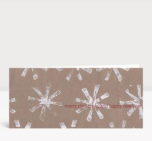 Weihnachtskarte Kartoffeldruck Sterne