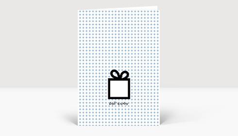 Weihnachtskarte Best wishes blau