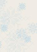 Weihnachtskarte Schneeflockenmuster blau