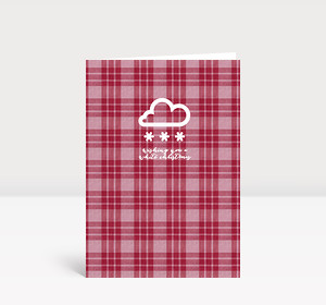 Weihnachtskarte White Christmas rot