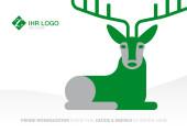 Weihnachtskarte Hirschlein grün