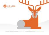Weihnachtskarte Hirschlein orange