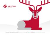 Weihnachtskarte Hirschlein rot