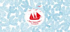 Weihnachtskarte Hamburg Ahoi Schiff blau
