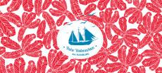 Weihnachtskarte Hamburg Ahoi Schiff rot