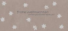 Weihnachtskarte Sternenkarton grau
