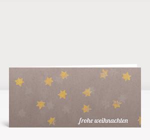 Weihnachtskarte Sternenkarton gelb