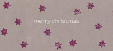 Weihnachtskarte Sternenkarton violett