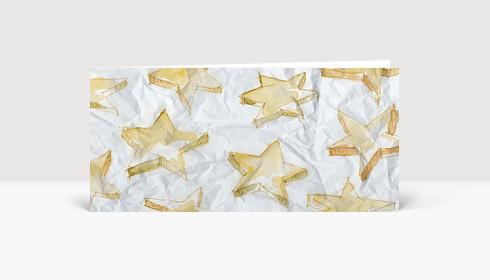 Weihnachtskarte Aquarellsterne gelb