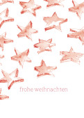 Weihnachtskarte Sternenschweif rot