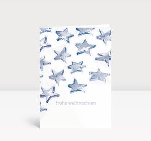 Weihnachtskarte Sternenschweif blau