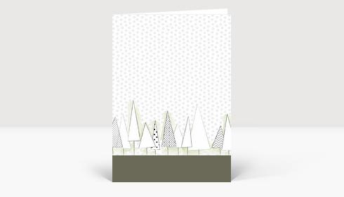 Weihnachtskarte Verschneiter Weihnachts-Wald