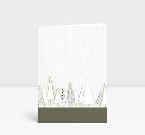 Weihnachtskarte Verschneiter Weihnachtswald