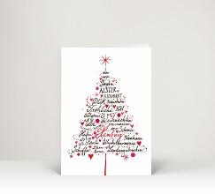 Weihnachtskarten gezeichnet und gemalt designer - Weihnachtskarte englisch ...