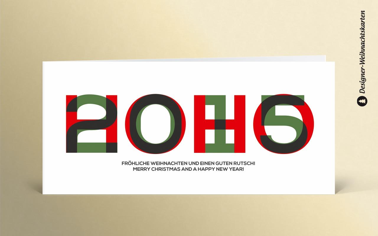Weihnachtskarte hoho 2015 gr n rot dk2307 designer - Designer weihnachtskarten ...