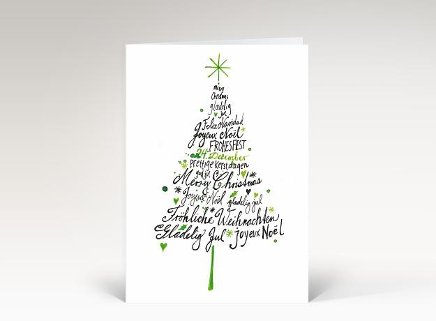 weihnachtskarte internationale weihnachtsgr e gezeichnet. Black Bedroom Furniture Sets. Home Design Ideas