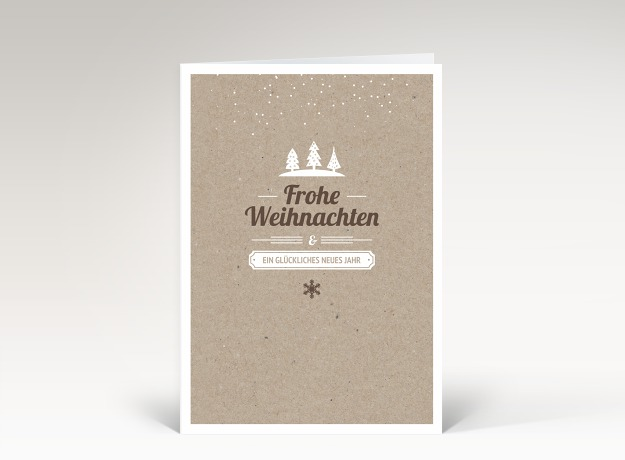 weihnachtskarte kleine weihnacht karton dk2360. Black Bedroom Furniture Sets. Home Design Ideas