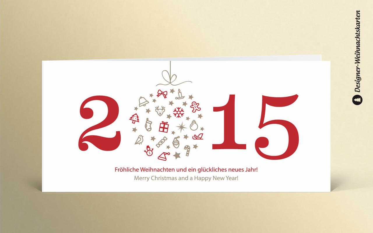 weihnachtskarte weihnachtskugel 2015 rot dk2394 designer. Black Bedroom Furniture Sets. Home Design Ideas