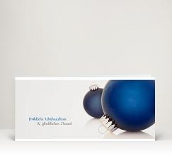 Weihnachtskarten mit weihnachtskugeln designer for Christbaumkugeln blau